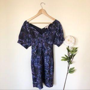 Rebecca Taylor   100% Silk Floral Waist Tie Dress